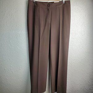 Chico's Dark Brown Silhouette Fit Slacks Sz. 2